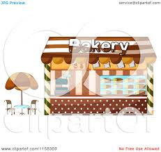 Clipart Of A Bakery Shop Storefront 2 Royalty Free Vector