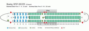 Air China Airlines Boeing 767 300er Aircraft Seating Chart