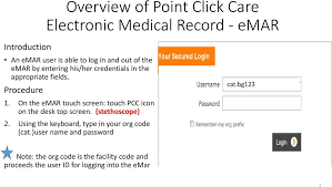 Overview Of Point Click Care Electronic Medical Record Emar