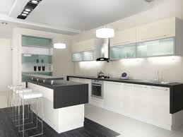 Exquisite Modern White Kitchen Cabinets With Black Countertops