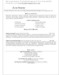 Dental Resume Examples Dental Student Resume Dental Hygiene Resume Simple Pediatric Dental Assistant Resume Examples
