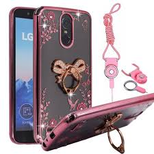 LG K20 Plus Case, V LV5 Harmony Grace BestAlice Slim Fit Soft Gel Bling Case Metal Plating Bumper Cover \u0026 Lanyard Neck Strap, Amazon.com: