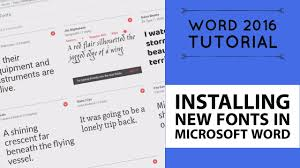 Installing New Fonts In Microsoft Word Word 2016 Tutorial 15 52