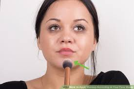 image led apply makeup according to your face shape step 20