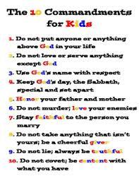 10 Commandments Chart 10 Commandments Printable Wall Chart