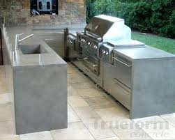 outdoor kitchen tile countertop ideas concrete decor 1