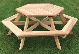 Free Picnic Table Designs Hexagon Wood Picnic Table Plans Woodwork Menu Building