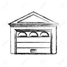 garage door house icon vector ilration graphic design stock vector 78654270