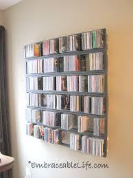 ikea lerberg cd dvd wall shelf elegant diy dvd storage fabric boxes the sweat love blog