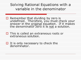 6 solving rational equations with a variable