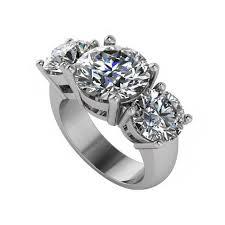 10mm 8mm neo moissanite three stone ring