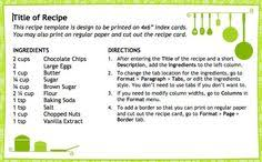 Openoffice Recipe Card Template Apache Open Office
