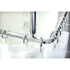 chrome shower curtain rings shower curtain rail rod 4 way use l or u shape ceiling