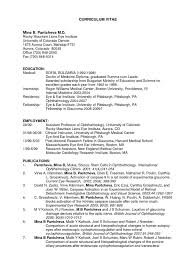 25 Good Curriculum Vitae For Physician Assistant School Letter