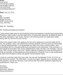 How Do I Write A Cover Letter For Warehouse Job Adriangatton Com