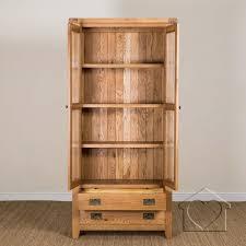 Listers Bedroom Furniture Heritage Rustic Oak Display Cabinet Alb49900 A Fantastic Range