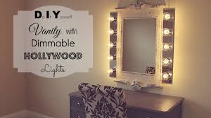 Bathroom Light Dimmer Diy Vanity With Dimmable Hollywood Lights