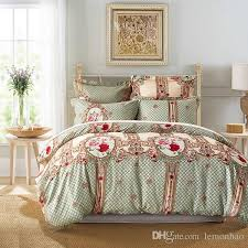 duvet cover set palace euro style bedding set rose pattern bed cover pillowcase uk us russia size single double twin full king red white and blue bedding