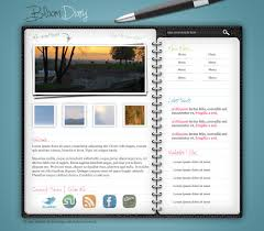 Design A Journal Design A Diary Journal Web Layout In Photoshop Photoshop
