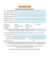 Credit Consent Form 41 Credit Card Authorization Forms Templates Ready To Use