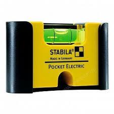 Строительный <b>уровень Stabila Pocket Electric</b> с чехлом на пояс ...