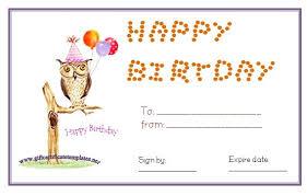 Plain Gift Certificate Template Happy Birthday Blank Gift Certificate Aesthetecurator Com