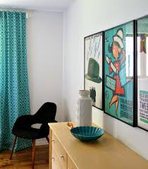 Turquoise Curtains For Living Room Diy Back Tab Curtain Tutorial Dans Le Lakehouse