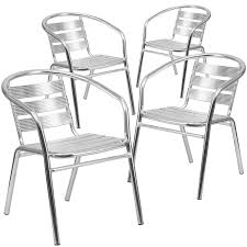 aluminum restaurant patio furniture. amazon.com: flash furniture 4 pk. heavy duty commercial aluminum indoor-outdoor restaurant stack chair with triple slat back: kitchen \u0026 dining patio
