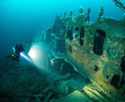 real underwater titanic pictures. Delighful Underwater Among The Wrecks Are Merchant Vessels Submarines And Ocean Liners With  HMS Audacious Being With Real Underwater Titanic Pictures
