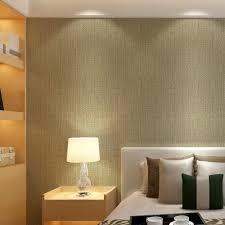 Moderne Plain Linnen Textuur Behang Faux Grasscloth Behang