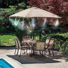 9 of 12 outdoor mist cooling system 10ft patio mister kit pool deck misting air cooler