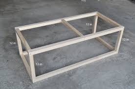 building a coffee table frame coffee table designs