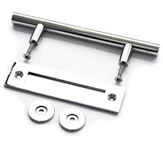 "DIYHD 12"" <b>Chrome Stainless Steel</b> Barn Door Two-<b>Side</b> Handle Pull ..."