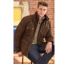 magiczoom window distressed leather field jacket
