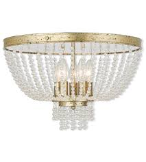 livex 51866 28 valentina 5 light 18 inch hand applied winter gold flush mount ceiling