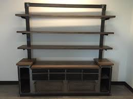 Office shelving unit Display Custom Made Modern Industrial Office Credenza And Shelving Unit Custommadecom Hand Crafted Modern Industrial Office Credenza And Shelving Unit By