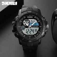 SKMEI Trendy Men <b>Outdoor Sport Watch</b> 2 Time Waterproof Digital ...