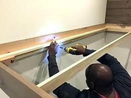 built in bunk beds stud install how to build diy into the wall
