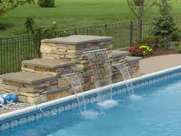 In ground pools with waterfalls 100000 Dollar Pool Stone Waterfall St Charles Il By Swim Shack Swim Shack Pools Swimming Pool Waterfalls Swimming Pool Water Features Pool Water