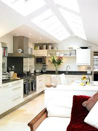 full image for recessed lighting sloped ceiling remodel kitchen vaulted perfect place skylights how to install