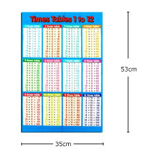 math tables family educational time multiplication tables math children wall chart poster us multiplication tables 11
