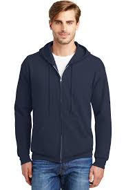 Hanes Ecosmart Full Zip Hooded Sweatshirt Hanes