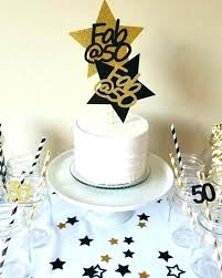 Birthday Party Cake Topper Cupcake Years Picks 50th Cakes Bday Ideas