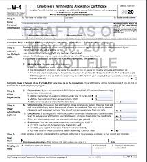 Irs Releases Draft 2020 W 4 Form