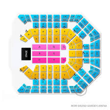 Mgm Grand Garden Arena Seating Chart Mgm Grand Garden Arena 2019 Seating Chart