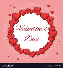 Greating Card Template Valentine Day Heart Mock Up