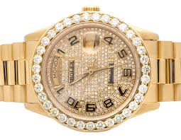 18k mens yellow gold rolex presidential day date 36mm diamond 18k mens yellow gold rolex presidential day date 36mm diamond watch 6 5 ct