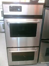 24 inch gas wall oven stainless steel ge in single frigidaire fgb24l2ec double 24 inch