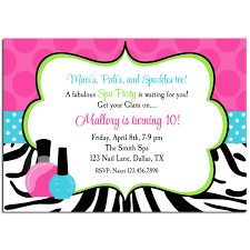 Mani Pedi Spa Birthday Party Invitation By That Party Chick