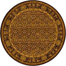 metro brown yellow green beige 8 ft indoor round area rug